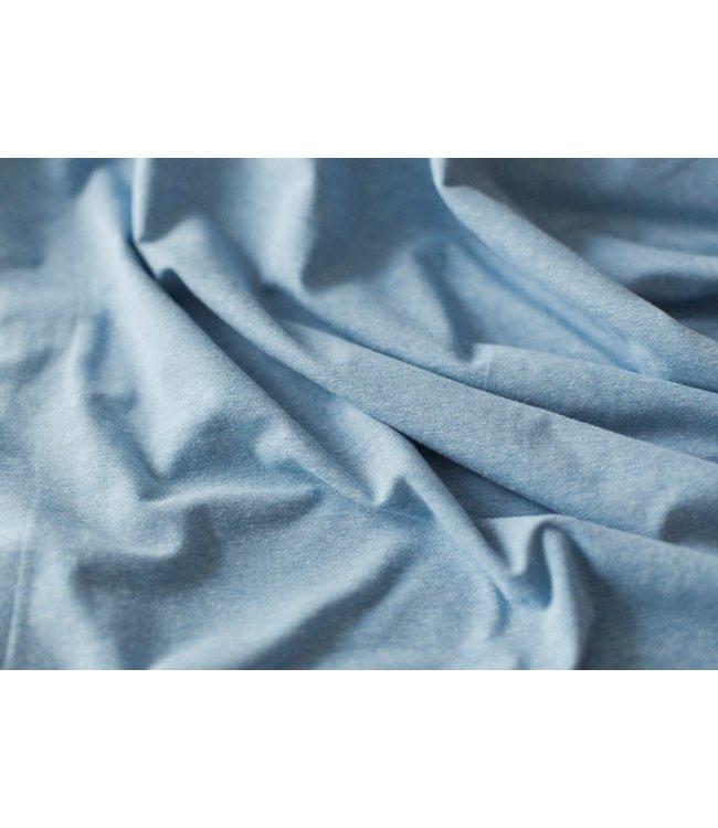 Melange tricot - licht blauw