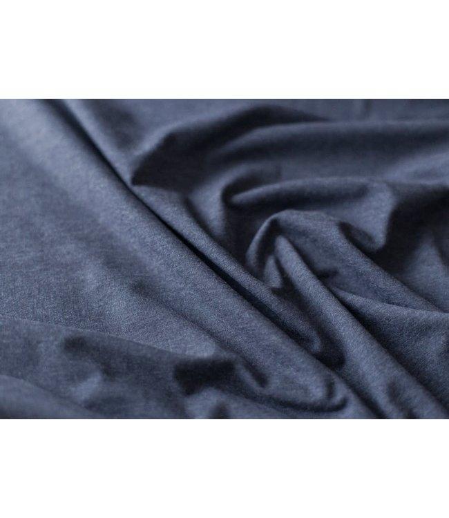 Melange tricot - donker blauw