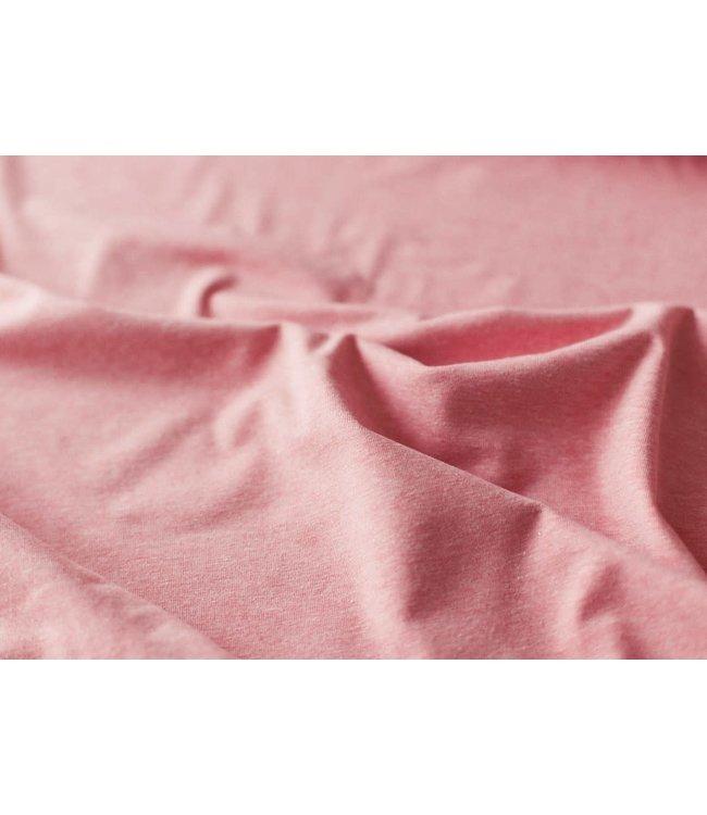 Melange tricot - donker roze