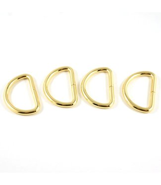 D-ring goud (15-40mm)