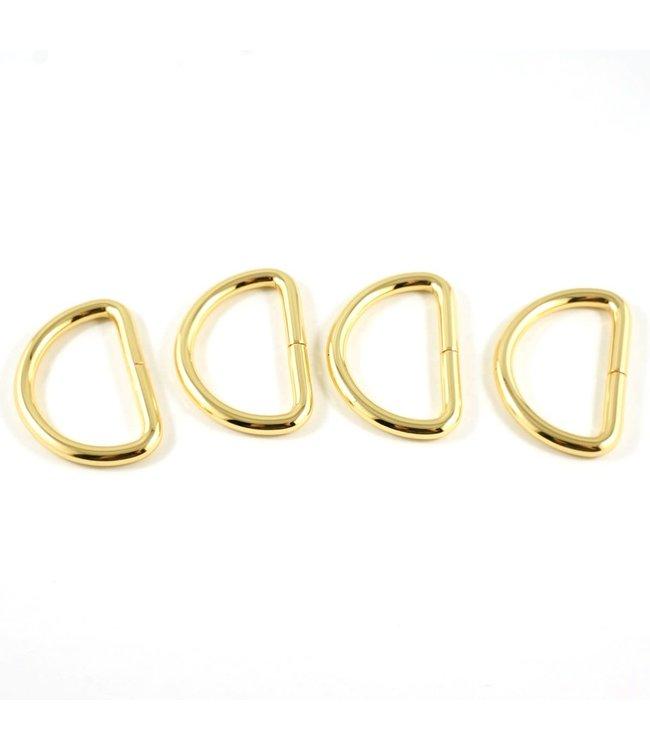 D-ring goud (15-40mm)