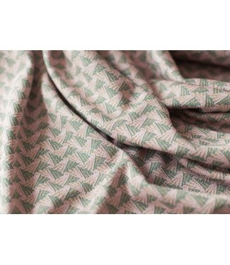 Renee - jacquard roze triangle