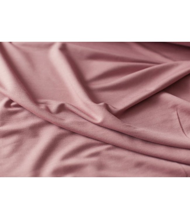 Bamboo knit french terry - oud roze