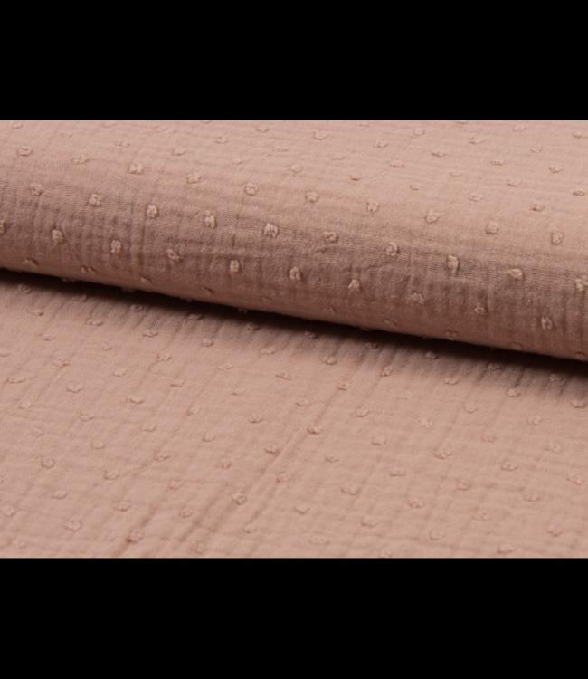 Dobby - double gauze dusty pink