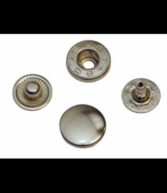 Anorak drukknopen zilver (5st)