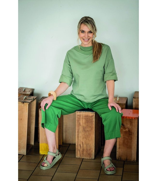 Vera - sweaterstof oud groen