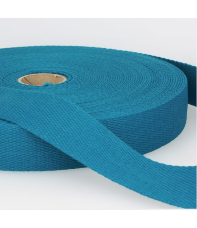 Tassenband fel petrolblauw S126