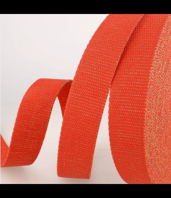 Tassenband rood goud