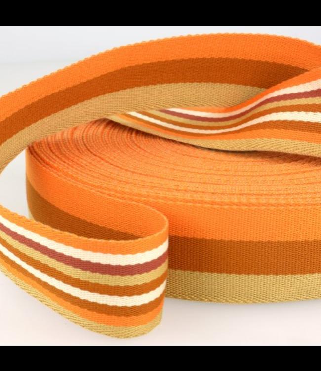 Tassenband doubleface - oranje