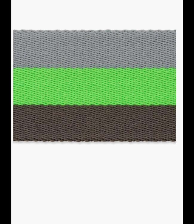 Tassenband doubleface - neon groen
