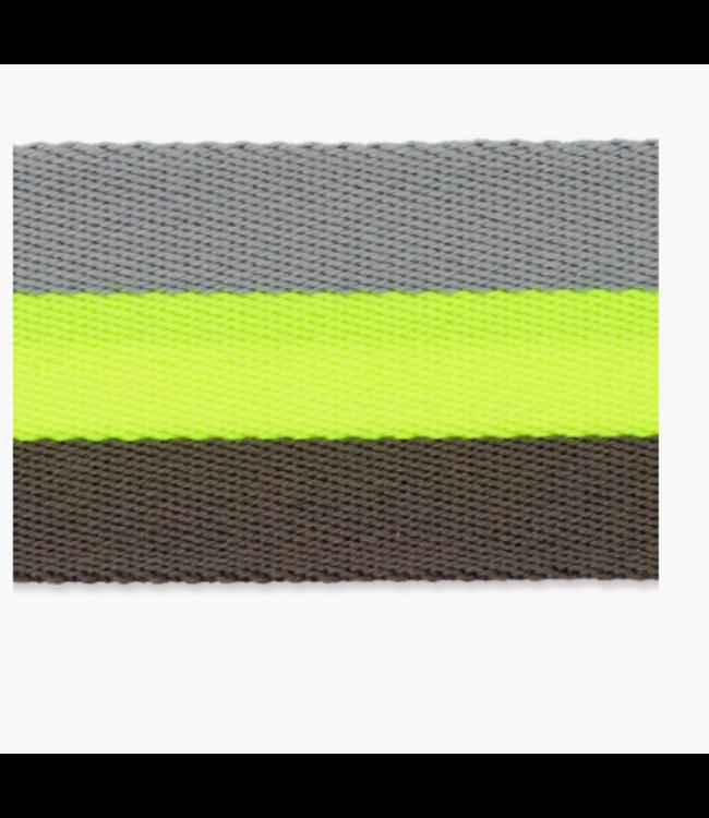 Tassenband doubleface - neon geel