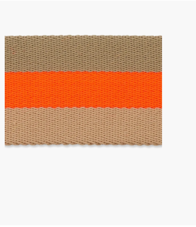 Tassenband doubleface - neon oranje