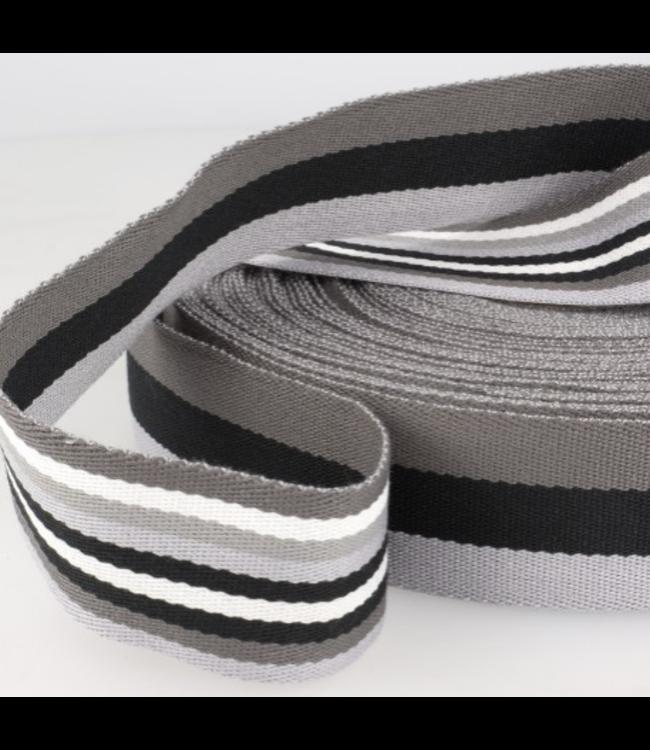 Tassenband doubleface - grijs