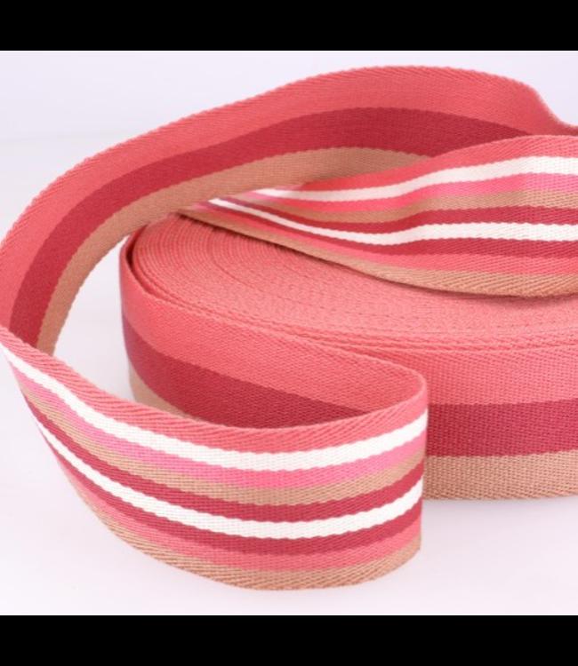 Tassenband doubleface - roze
