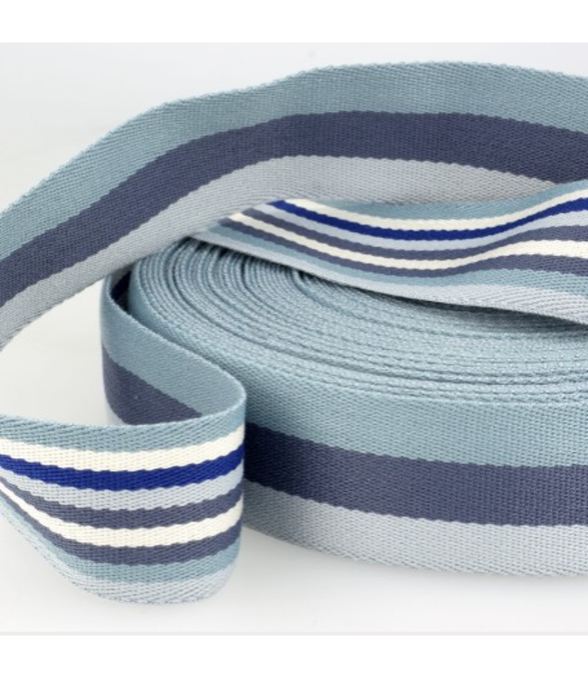 Tassenband doubleface - blauw