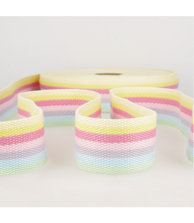 Tassenband lijnen - pastel