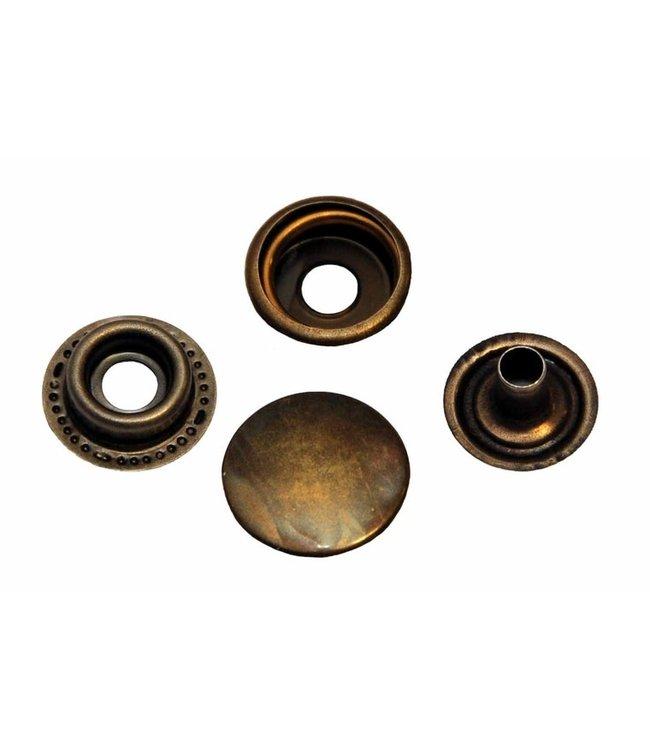 Anorak drukknopen brons (5st)