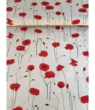 Emma poppies - canvas