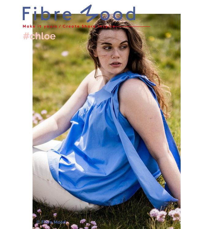 Chloe poplin stretch - hemelsblauw