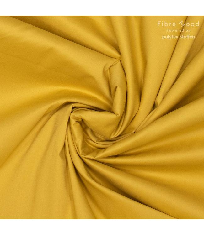 Poplin stretch - geel