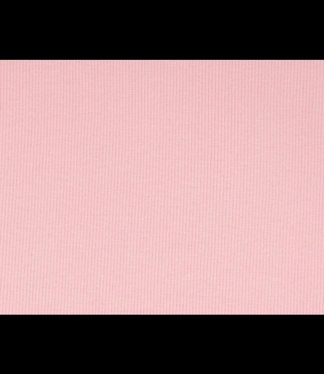 Boordstof rib smal - roze