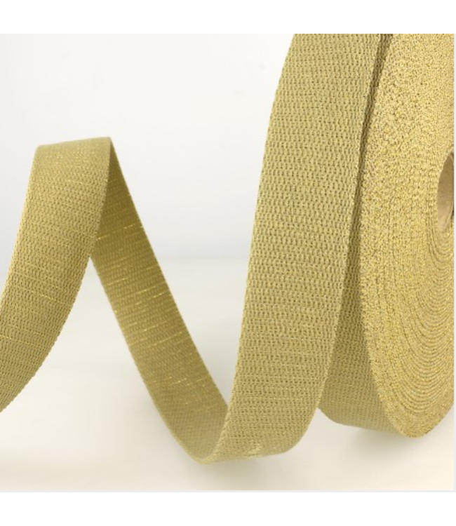 Tassenband natuur - goud