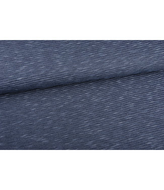 Marit - reliëf tricot jeansblauw