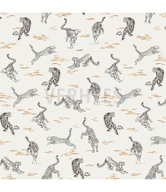 Poppy Tigers oker - linnen viscose