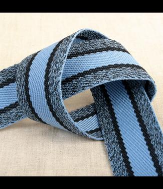 Tassenband sportieve lijnen - hemelsblauw