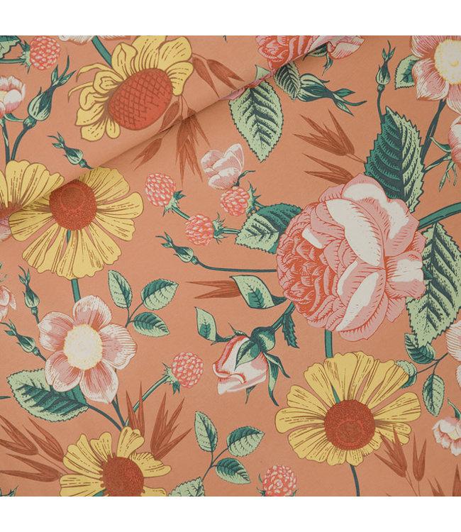 SYAS17 Bloom garden french terry - cafe creme