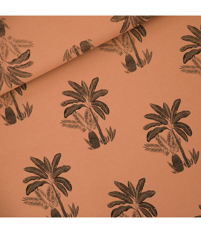 SYAS17 Palm trees french terry - pecan bruin