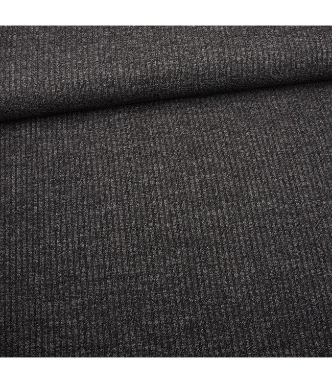Knitted rib - donker grijs