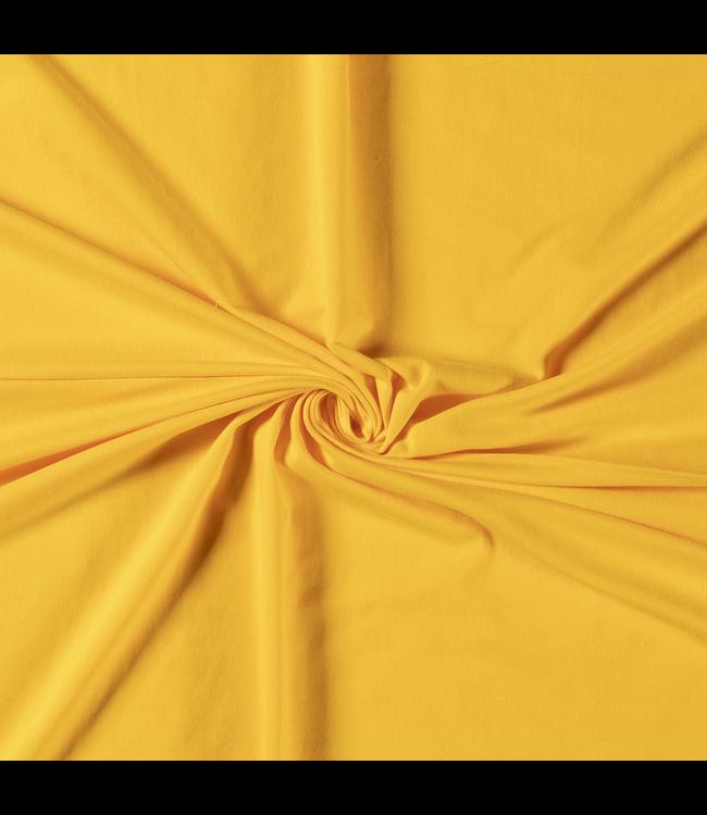 Katoentricot - geel