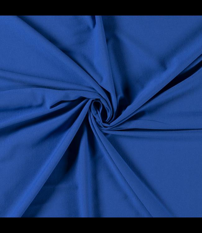 Katoentricot - kobalt