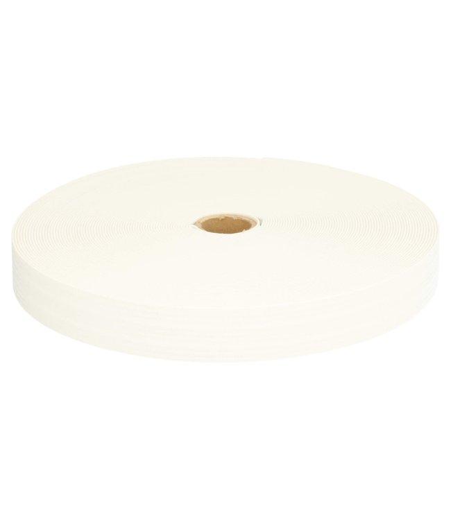 Zachte elastiek 25 mm - wit