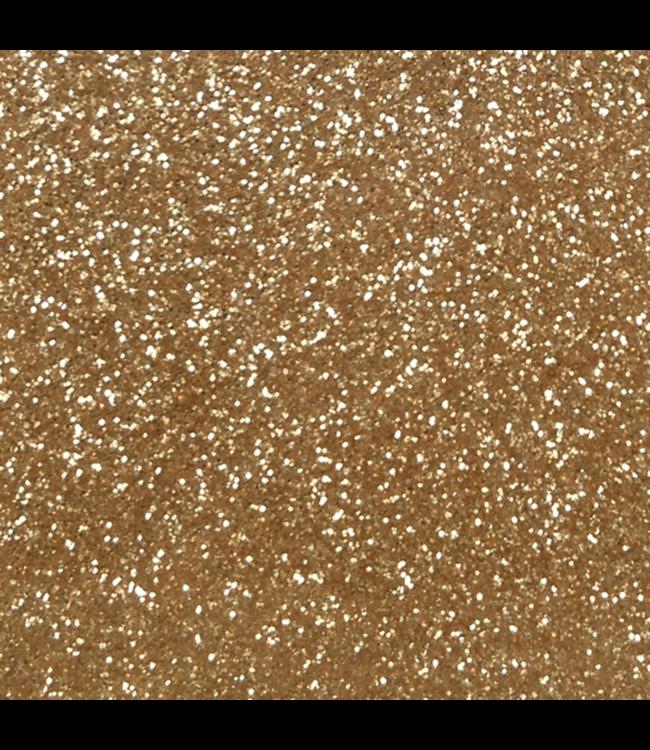 Flexfolie - glitter oud goud