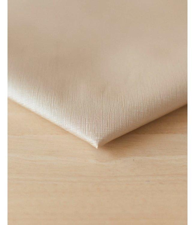 Vegan kunstleer linnenlook ice - 50x140 cm