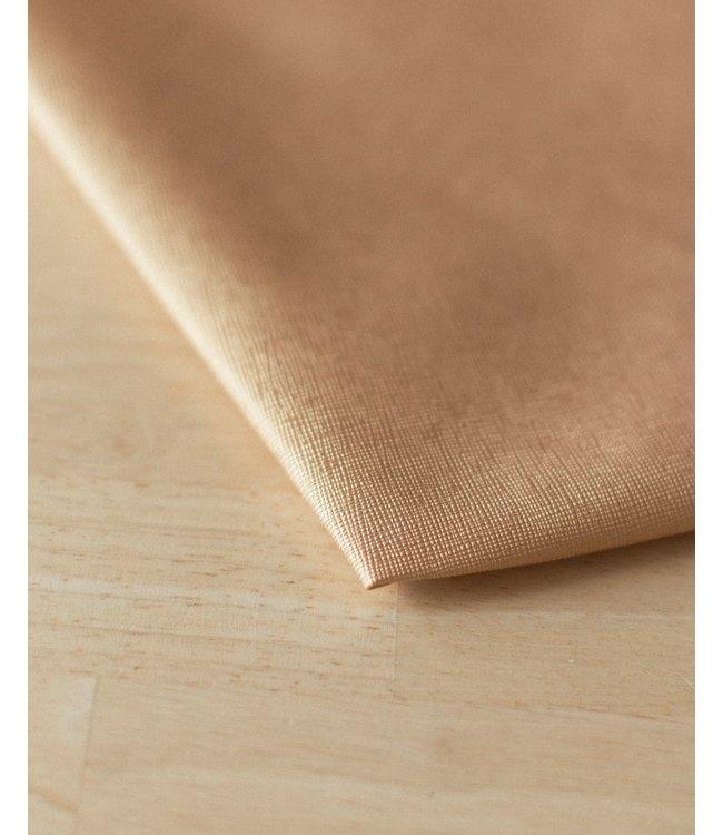 Vegan kunstleer diagonaal goud - 50x140 cm