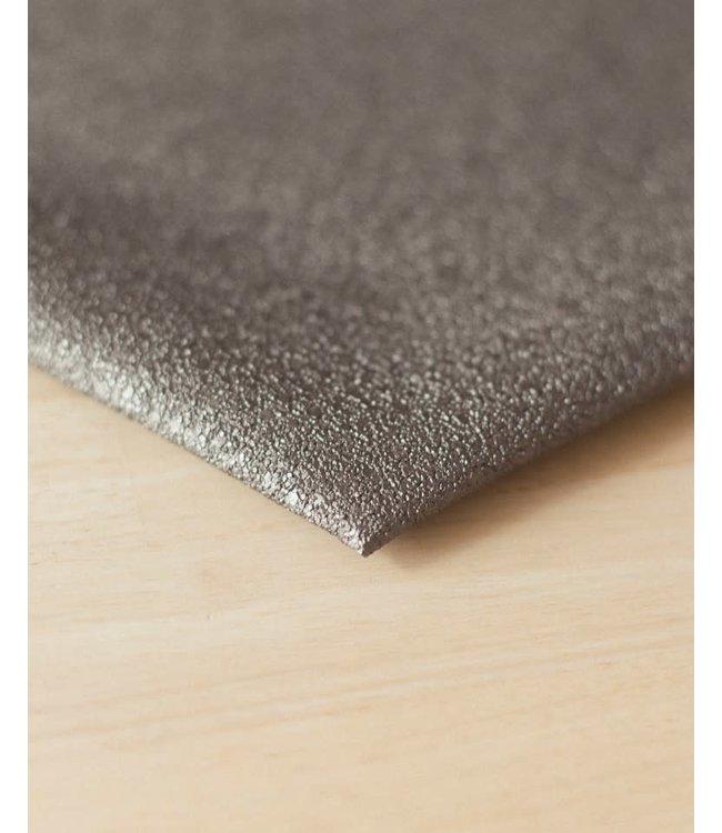Vegan kunstleer grind grijs - 50x140 cm