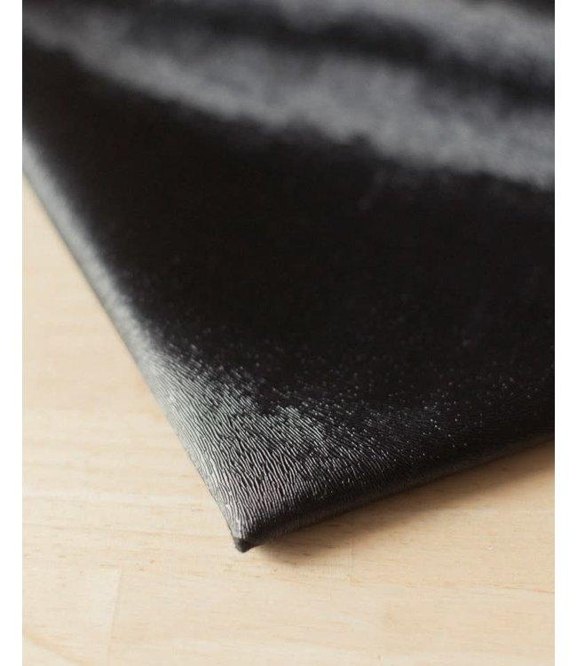 Vegan kunstleer foxy zwart - 50x140 cm