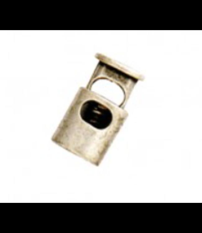 Koordstopper  - nikkelkleurig