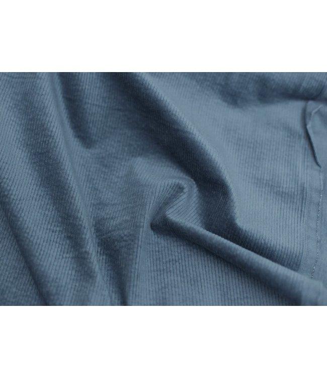 Soepele corduroy - blauw