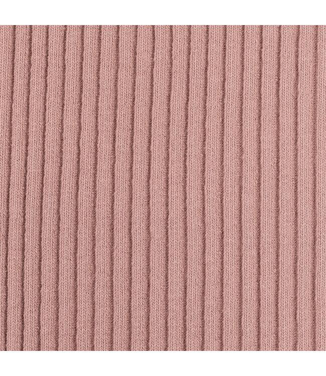Heavy rib boordstof - oud roze
