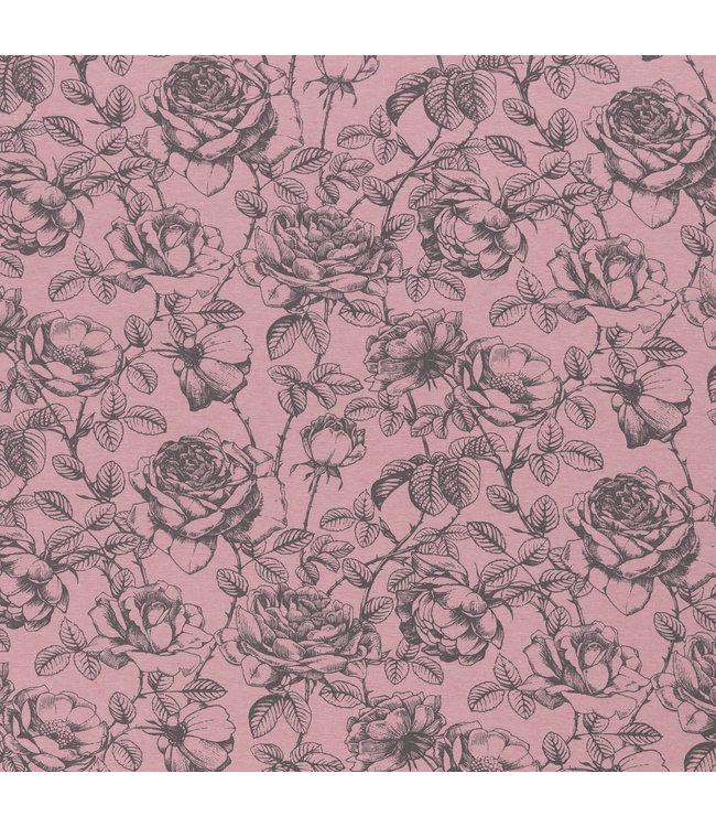Mareike bloemen sweat - roze