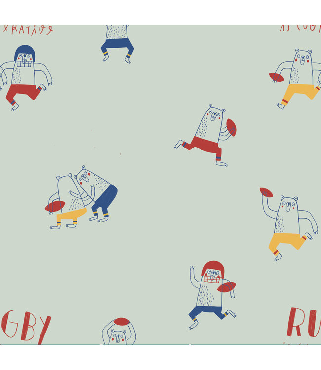 Rugby is cooperative - tricot