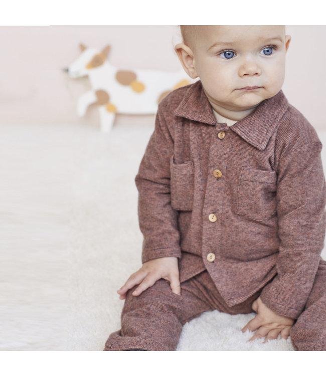 Katia Fabrics Multi stripes rust anthracite - tricot