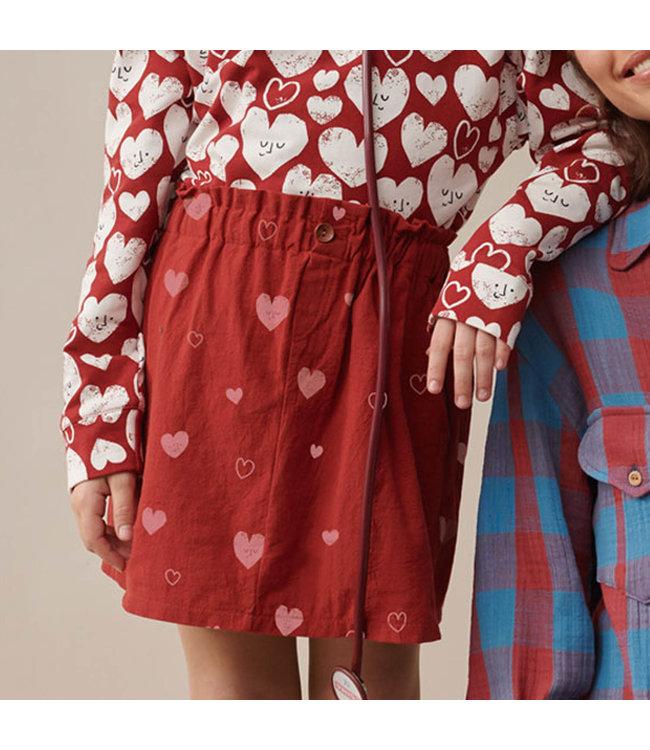 Hearts - rustic cotton