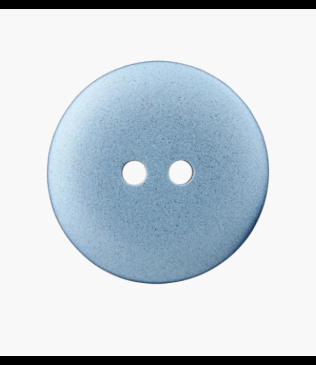 Platte knoop - aqua 18mm