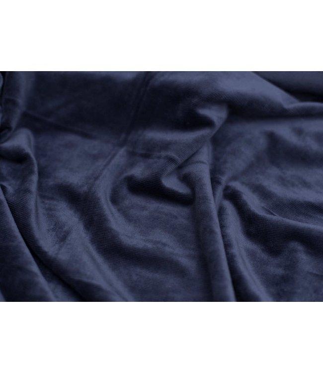Velvet stretch rib - navy