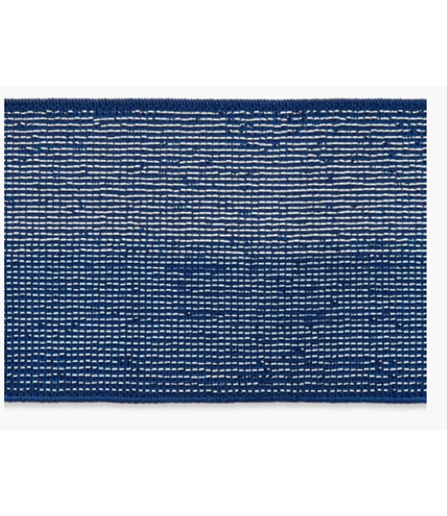 Elastiek lurex 40 mm - kobalt